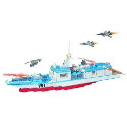 Woma C0151 (NOT Lego Military Army Rocket Ship ) Xếp hình Tàu Chiến Trang Bị Tên Lửa 752 khối