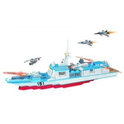 WOMA C0151 0151 Xếp hình kiểu Lego MILITARY ARMY Rocket Ship Tàu chiến trang bị tên lửa 752 khối