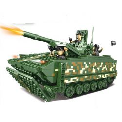 WOMA C0723 0723 Xếp hình kiểu Lego MILITARY ARMY Tank Xe tăng 547 khối