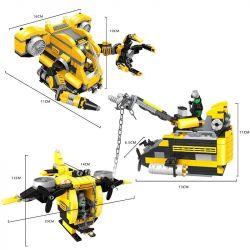 WOMA C9115 9115 Xếp hình kiểu Lego CREATOR 3 IN 1 Deep Sea Submarine Thám Hiểm Biến Sâu 538 khối
