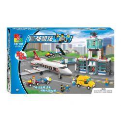 WOMA J5668 5668 Xếp hình kiểu Lego CITY Airport Airport - ANA Version Airport Airport Sân Bay Quốc Tế gồm 2 hộp nhỏ 700 khối
