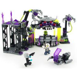 Enlighten 1613 Qman 1613 Xếp hình kiểu Lego SPACE ADVENTURE Space Adventure Villains Alliance Base Starial Adventure Evil Alliance Base Căn Cứ Bọn Tội Phạm 398 khối