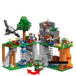 Decool 819 Jisi 819 Xếp hình kiểu Lego MINECRAFT My World 3D Real Scene Steven Underground Exploration 2in1 Kho Báu Dưới Lòng đất 453 khối