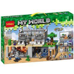 Decool 820 Jisi 820 Xếp hình kiểu Lego MINECRAFT My World 3D Sights Stephen Wars 骷髅 City 2in1 Cuộc Chiến Thành Phố Xương Sọ 819 khối