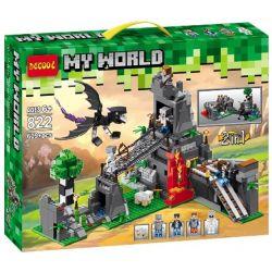 Decool 822 Jisi 822 Xếp hình kiểu Lego MINECRAFT My World 3D立体实景恶龙山吊桥拯救艾莉克斯 2in1 My World Dragon Mountain Suspension Bridge Save Ellick Rồng địa Ngục Cứu Alex 609 khối