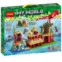 Decool 823 Jisi 823 Xếp hình kiểu Lego MINECRAFT My World 斯蒂芬海底王宫探险 2in1 My World Stephen Baili Royal Palace Adventure Cuộc Phiêu Lưu Lâu đài Dưới Biển Của Steve 432 khối