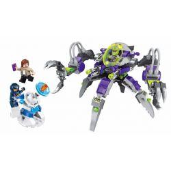 Enlighten 1608 Qman 1608 Xếp hình kiểu Lego SPACE ADVENTURE Space Adventure Against Alien Attack Starial Adventure Arbitrarise Máy Bay Bạch Tuộc Của Người Ngoài Hành Tinh 230 khối