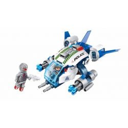 Enlighten 1606 Qman 1606 Xếp hình kiểu Lego SPACE ADVENTURE Space Adventure Robocop's Renegade Starial Adventure Mechanical Alarm Phi Thuyền Cảnh Sát 213 khối