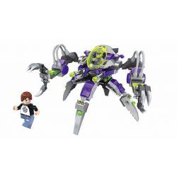 Enlighten 1605 Qman 1605 Xếp hình kiểu Lego SPACE ADVENTURE Space Adventure Alien Grab Mech Starial Adventure Alien Catching Machine Người Ngoài Hành Tinh Bắt Dân Thường 227 khối
