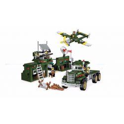 Enlighten 1713 Qman 1713 Xếp hình kiểu Lego TACTICAL ESPIONAGE ACTION Tactical Espionage Action Combat Zones Fire Battlefield Series Mobile Combat Vehicle Phòng Thủ Bầu Trời 687 khối