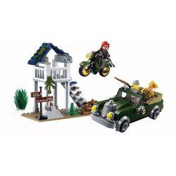 Enlighten 1708 Qman 1708 Xếp hình kiểu Lego TACTICAL ESPIONAGE ACTION Tactical Espionage Action Combat Zones Fire Battlefield Series Special Task - Zero Nhiệm Vụ đặc Biệt Số 0 208 khối