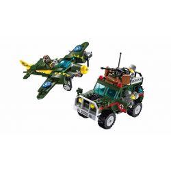 Enlighten 1707 Qman 1707 Xếp hình kiểu Lego TACTICAL ESPIONAGE ACTION Tactical Espionage Action Combat Zones Fire Battlefield Series Air Raid Armed Car Không Kích 241 khối