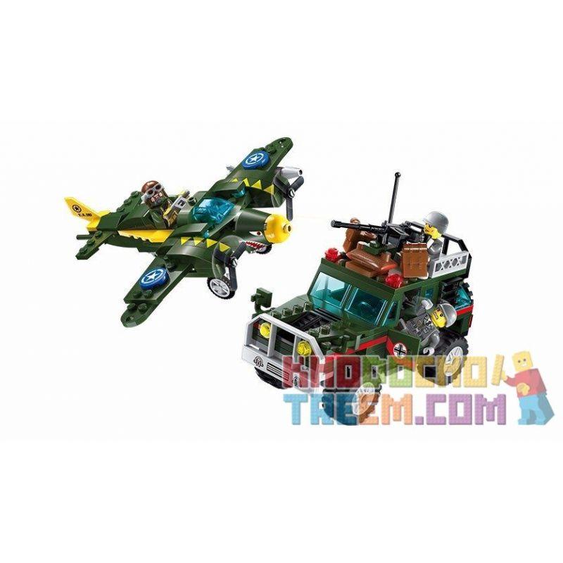 Enlighten 1707 (NOT Lego Military Army The Air Strike ) Xếp hình Không Kích 241 khối