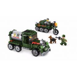 Enlighten 1706 Qman 1706 Xếp hình kiểu Lego TACTICAL ESPIONAGE ACTION Tactical Espionage Action Combat Zones Fire Battlefield Series Intercept Team Ngăn Chặn Kẻ Xâm Nhập 223 khối