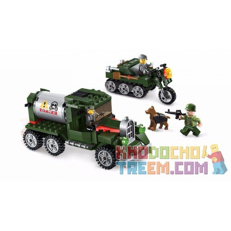 Enlighten 1706 (NOT Lego Military Army Eintercept The Fleet ) Xếp hình Ngăn Chặn Kẻ Xâm Nhập 223 khối