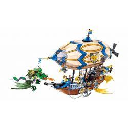 """Enlighten 2316 Qman 2316 Xếp hình kiểu Lego NEXO KNIGHTS The War Of Glory Vessel Glory Glory Battle """"Glory"""" Spaceship Khinh Khí Cầu 669 khối"""