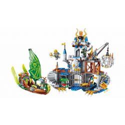 Enlighten 2315 Qman 2315 Xếp hình kiểu Lego NEXO KNIGHTS The War Of Glory Castle - Silver Hawk Glory Battle Flying Eagle Castle Lâu đài đại Bàng 656 khối