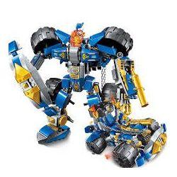 Enlighten 2313 Qman 2313 Xếp hình kiểu Lego NEXO KNIGHTS The War Of Glory Justice Mecha Glory Battle Knight Machine Người Máy Hiệp Sỹ 372 khối
