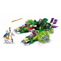 Enlighten 2312 Qman 2312 Xếp hình kiểu Lego NEXO KNIGHTS The War Of Glory Chariot - The Sirius Glory Battle Niang Wolf Star War Cỗ Xe Hổ Xanh 392 khối