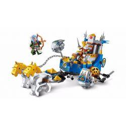 Enlighten 2310 Qman 2310 Xếp hình kiểu Lego NEXO KNIGHTS The War Of Glory King's Chariot Glory Battle Xe Ngựa Nhà Vua 246 khối