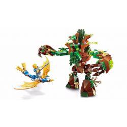 Enlighten 2309 Qman 2309 Xếp hình kiểu Lego NEXO KNIGHTS The War Of Glory War With Anclent Tree Glory Battle Ancient Trees Đại Chiến Ma Cây 286 khối