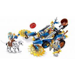 Enlighten 2308 Qman 2308 Xếp hình kiểu Lego NEXO KNIGHTS The War Of Glory Dwarf's Secret Weapon Glory Battle Dwarf Secret Weapon Cỗ Xe Lưỡi Cưa Bắn đá 243 khối
