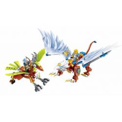 Enlighten 2306 Qman 2306 Xếp hình kiểu Lego NEXO KNIGHTS The War Of Glory Lord Of Sky Glory Battle Aerial King Chúa Tể Bầu Trời 290 khối