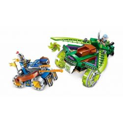 Enlighten 2305 Qman 2305 Xếp hình kiểu Lego NEXO KNIGHTS The War Of Glory Confrontation Glory Battle Convergent Cỗ Xe Sói Sáng 250 khối