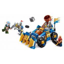 Enlighten 2304 Qman 2304 Xếp hình kiểu Lego NEXO KNIGHTS The War Of Glory Trebuchet Squad Glory Battle Torch Công Phá Thành 152 khối