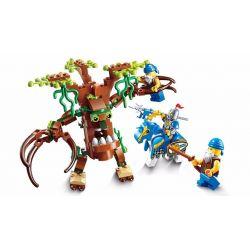 Enlighten 2302 Qman 2302 Xếp hình kiểu Lego NEXO KNIGHTS The War Of Glory Ent Witchclaw Glory Battle Glow Móng Vuốt Của Ma Cây 141 khối