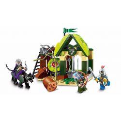 Enlighten 2301 Qman 2301 Xếp hình kiểu Lego NEXO KNIGHTS The War Of Glory Elfin Range Glory Battle Elf Shooting Bảo Vệ Làng Xóm 112 khối