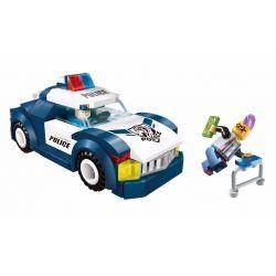 Enlighten 1901 Qman 1901 Xếp hình kiểu Lego Police Battle Force Racing Police Policemen Special Police Pursue Trốn Thoát Khỏi Xe Cảnh Sát 111 khối