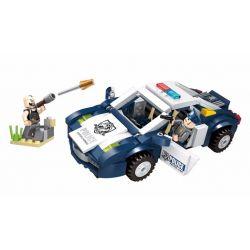 Enlighten 1910 Qman 1910 Xếp hình kiểu Lego Police Battle Force True Detective Policemen Tấn Công Xe Cảnh Sát Bằng Rocket 303 khối