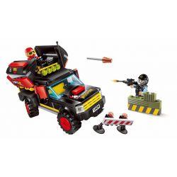 Enlighten 1909 Qman 1909 Xếp hình kiểu Lego Police Battle Force The Force Policemen Special Police Force Tấn Công đồn Cảnh Sát Bằng Xe Rocket 240 khối