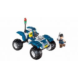 Enlighten 1908 Qman 1908 Xếp hình kiểu Lego Police Battle Force The Police Policemen Patrol Attack Xe Máy Tuần Tra 4 Bánh 139 khối
