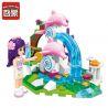 Enlighten 2002 (NOT Lego Friends Dolphin Trevi Fountain ) Xếp hình Đài Phun Nước Cá Heo 109 khối