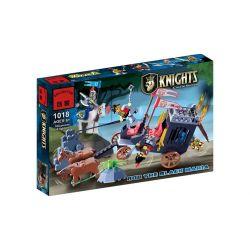 Enlighten 1018 Qman 1018 Xếp hình kiểu Lego Castle Knights Castle Robber Phục Kích Xe Ngựa Nhà Vua 160 khối