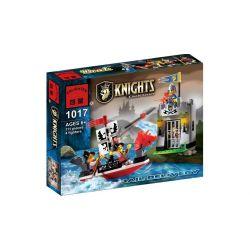 Enlighten 1017 Qman 1017 Xếp hình kiểu Lego Castle Knights Castle Robbery Cướp Ngục 111 khối