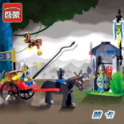 Enlighten 1016 Qman 1016 Xếp hình kiểu Lego Castle Knights Castle Whistle Qua Trạm Lính Canh 84 khối