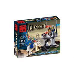 Enlighten 1015 Qman 1015 Xếp hình kiểu Lego Castle Knights Castle Beacon Giám Sát Trên Tường Thành 77 khối