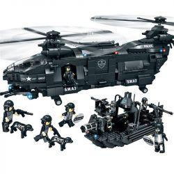 WOMA C0550 0550 Xếp hình kiểu Lego SWAT SPECIAL FORCE SWAT Corps Military Helicopter & Patrol Boat Trực Thăng Và Thuyền Xăng Của Lực Lượng đặc Nhiệm 1351 khối