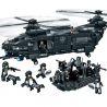 Woma C0550 (NOT Lego SWAT Special Force Swat Corps Military Helicopter & Patrol Boat ) Xếp hình Trực Thăng Và Thuyền Xăng Của Lực Lượng Đặc Nhiệm 1351 khối