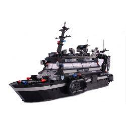 Woma C0546 (NOT Lego SWAT Special Force Swat Battle Command Ship ) Xếp hình Tàu Chỉ Huy Đánh Trận Của Lực Lượng Đặc Nhiệm 981 khối