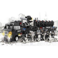 WOMA C0506 0506 Xếp hình kiểu Lego SWAT SPECIAL FORCE SWAT Truck Xe đầu kéo chở quân của lực lượng đặc nhiệm 716 khối