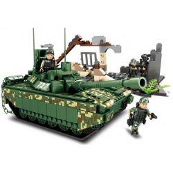 Woma C0727 (NOT Lego Military Army Millitary Tank ) Xếp hình Xe Tăng Quân Sự 528 khối