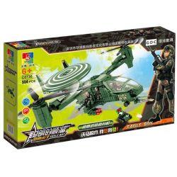Woma C0730 (NOT Lego Military Army Osprey Armed Helicopter ) Xếp hình Trực Thăng Quân Lực 554 khối