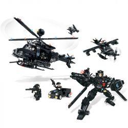 WOMA C0537 0537 Xếp hình kiểu Lego SWAT SPECIAL FORCE SWAT Helicopter Robot Fighter Robot Trực Thăng 2 Trong 1 Đội Đặc Nhiệm Mỹ 773 khối