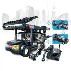 WOMA C0523 0523 Xếp hình kiểu Lego SWAT SPECIAL FORCE SWAT 3 In 1 Boom Car Xe rà phá bom mìn của đặc nhiệm 284 khối