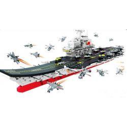 Woma C0155 (NOT Lego Military Army Aircraft Carrier ) Xếp hình Tàu Sân Bay 1904 khối