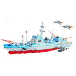 WOMA C0152 0152 Xếp hình kiểu Lego MILITARY ARMY Missile Destroyer Tàu khu trục 796 khối